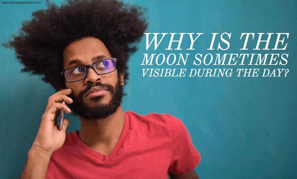 Why is the Moon sometimes visible during the day