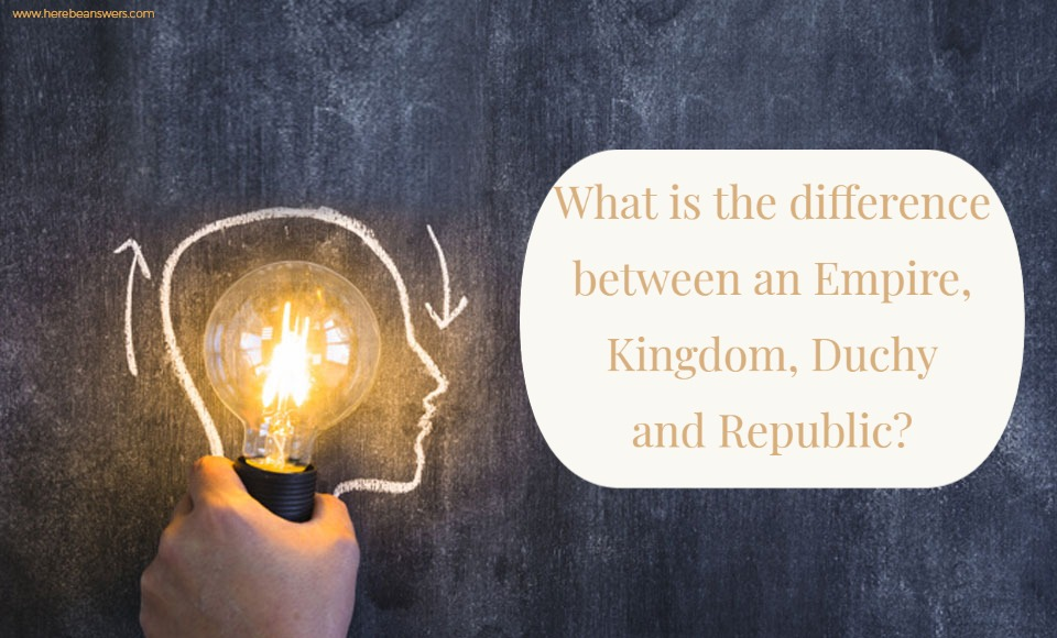 What is the difference between an Empire, Kingdom, Duchy, and Republic