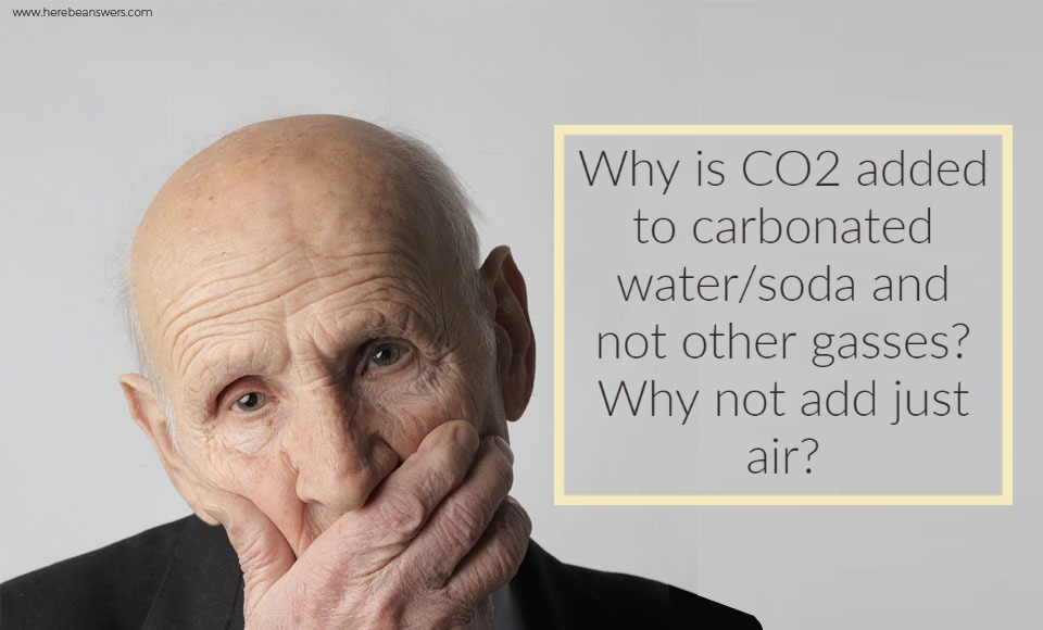 Why is CO2 added to carbonated water soda and not other gases Why not add just air